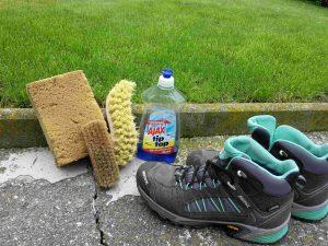 Schuhpflege eingesetztes Material