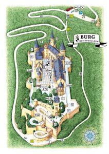 Geländeplan Burg Hohenzollern
